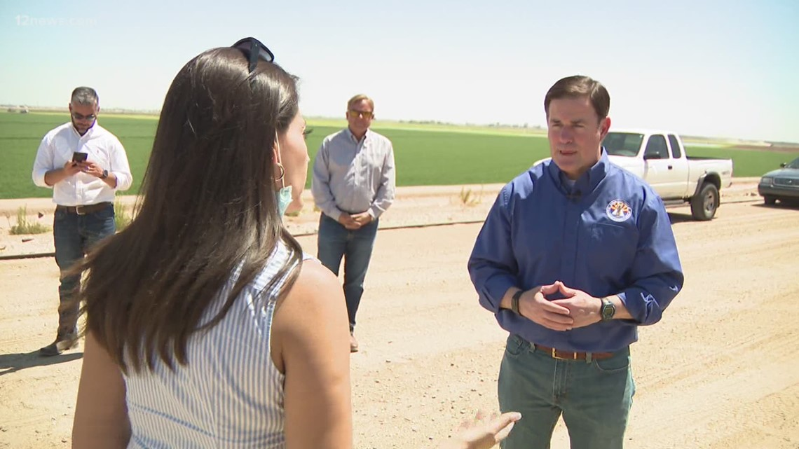 Ducey goes to Arizona Mexico border, continues to call for action from federal government