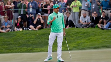 Rickie Fowler avoids collapse, wins Waste Management Phoenix Open