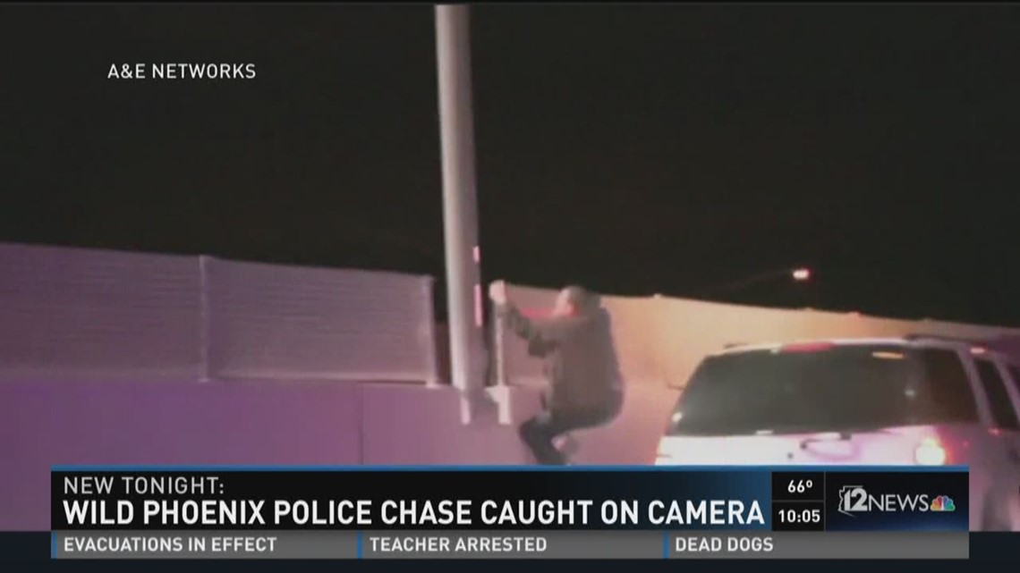 Wild Phoenix police chase caught on camera | 12news com