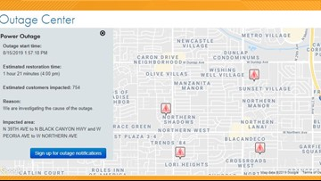 SRP outage map: Power outage in Phoenix as temperatures reach 114 degrees