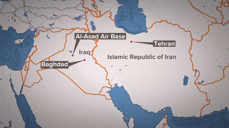 Iraq attack map