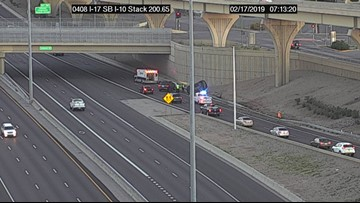 Driver facing murder charges after passenger dies in rollover at I-17, I-10 stack