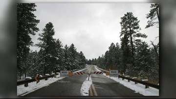Highway to North Rim closes early due to approaching storm