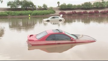 How does ADOT avoid flooded freeways after a monsoon?