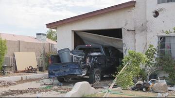 Car crash into home investigated as domestic violence