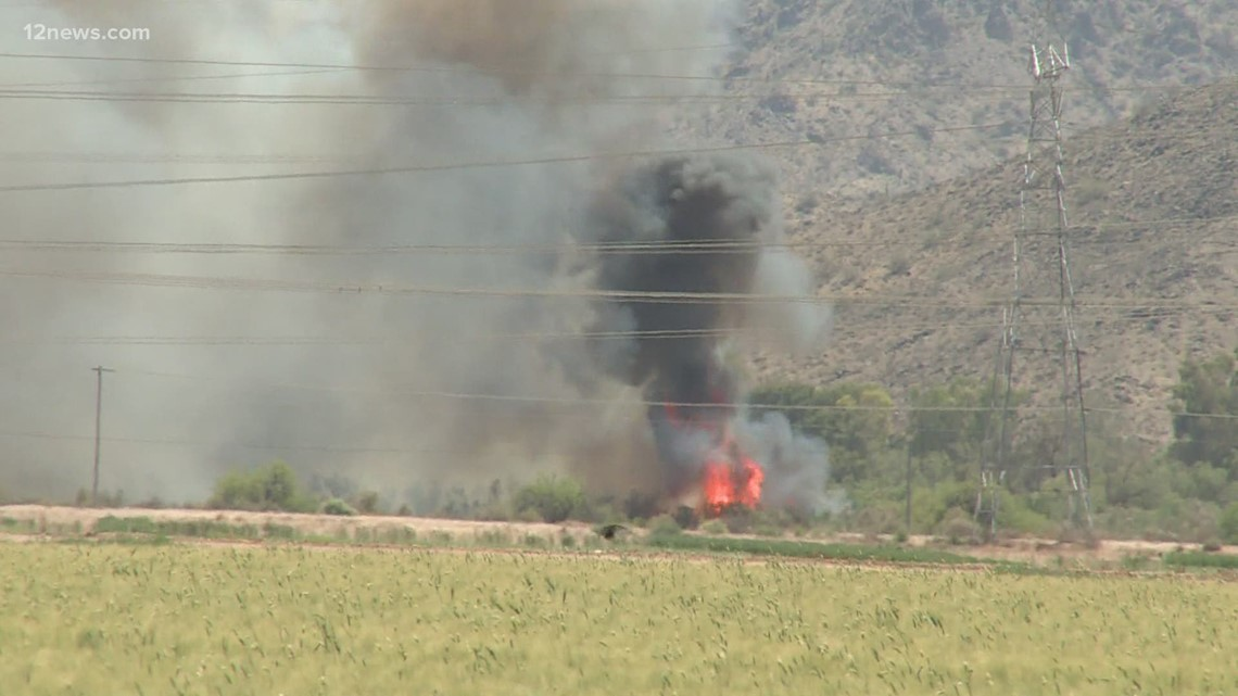 One person in custody for reckless burning after brush fire starts in Goodyear