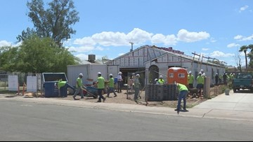 Habitat for Humanity volunteers help build the American dream for Phoenix family