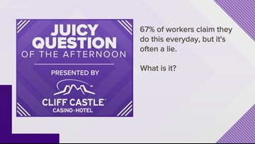 Juicy Question: 67% of workers lie about doing THIS at work every day