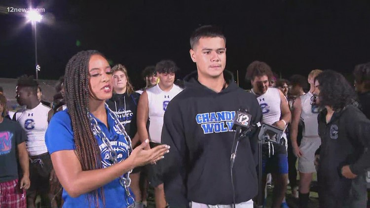 Chandler's Blaine Hipa and Franky Morales speak after victory