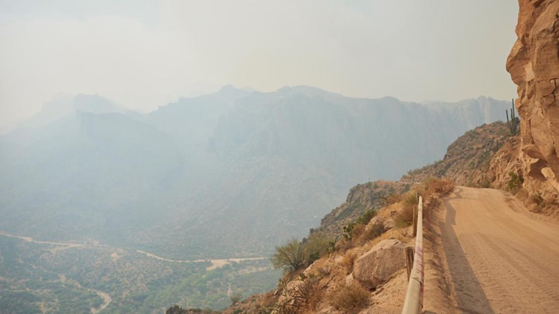 Growth on Woodbury Fire in Superstition Mountain stops as