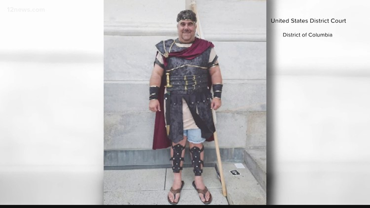 Capitol 'gladiator' from Arizona ordered released pending trial, despite judge's concerns about his mental health