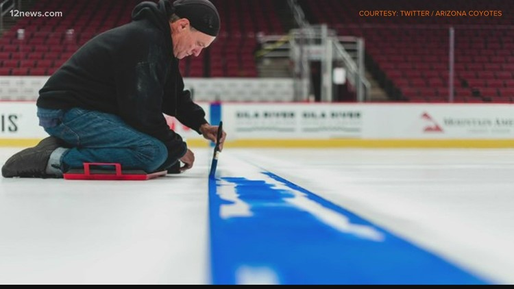 Arizona Coyotes' ice being painted, possibly for the last time