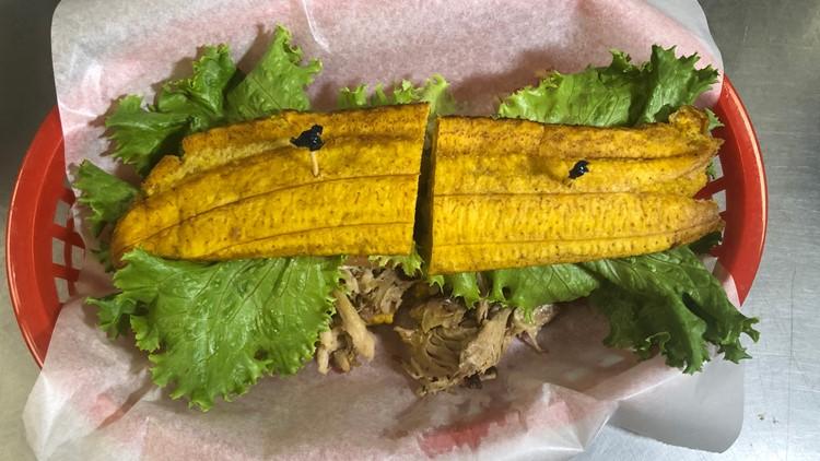 Sándwich jibarito peraprado en Millie's Cafe