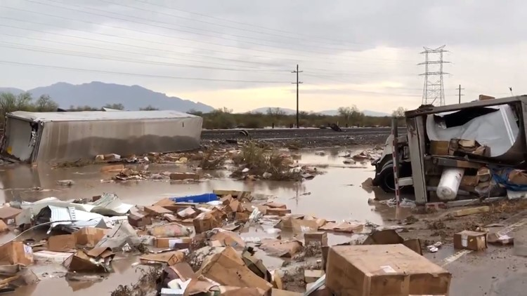 Rain caused a train derailment northwest of Tucson July 10, 2018. (Photo: Northwest Fire District)