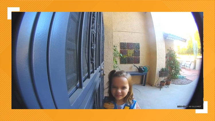WATCH: Adorable Girl Scout cookie sales pitch caught on doorbell camera