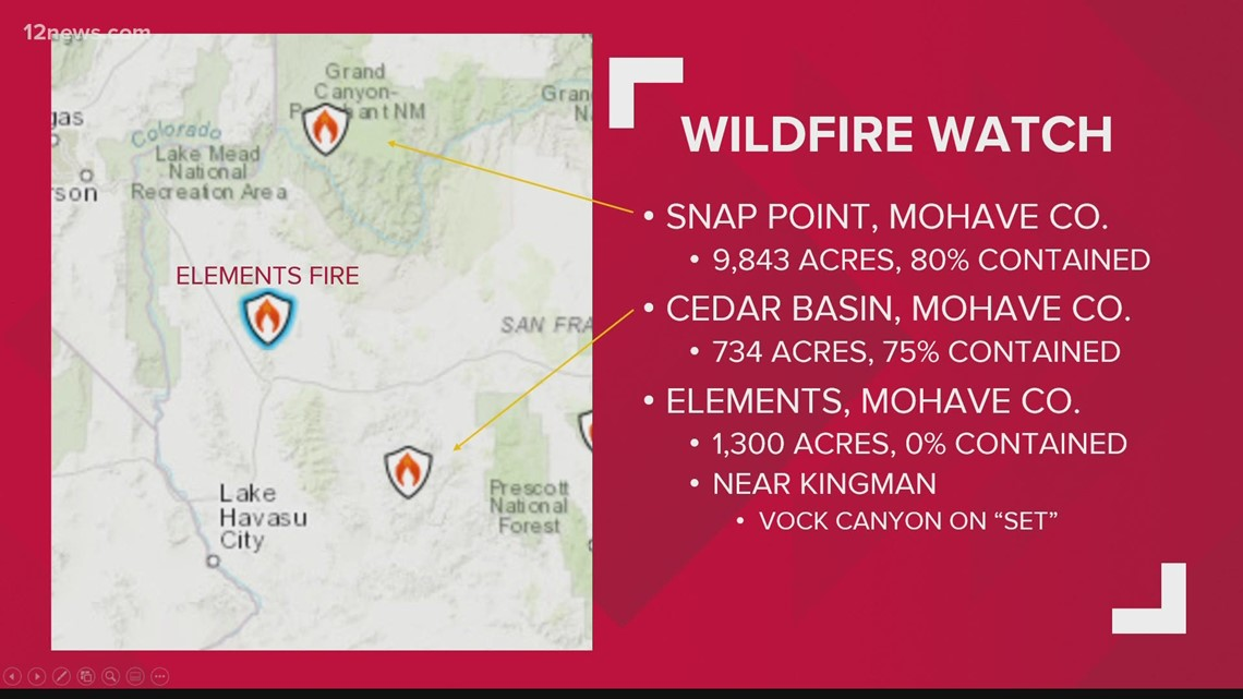 Wildfires in Arizona: Morning update for July 13