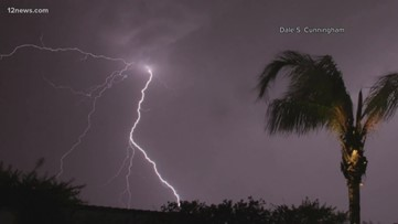There were more than 135,000 lightning flashes in Arizona during Wednesday's monsoon storms