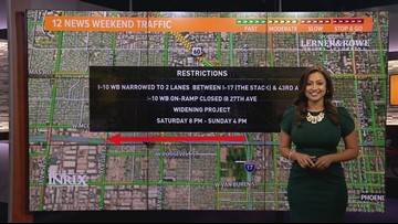 Weekend traffic report for Oct. 4 - Oct. 7