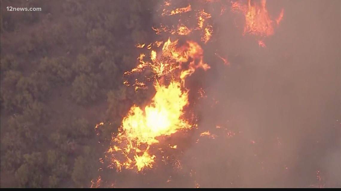 Evacuation orders remain in place as Arizona wildfires spread