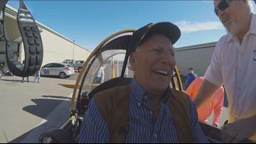 World War II veteran takes flight again