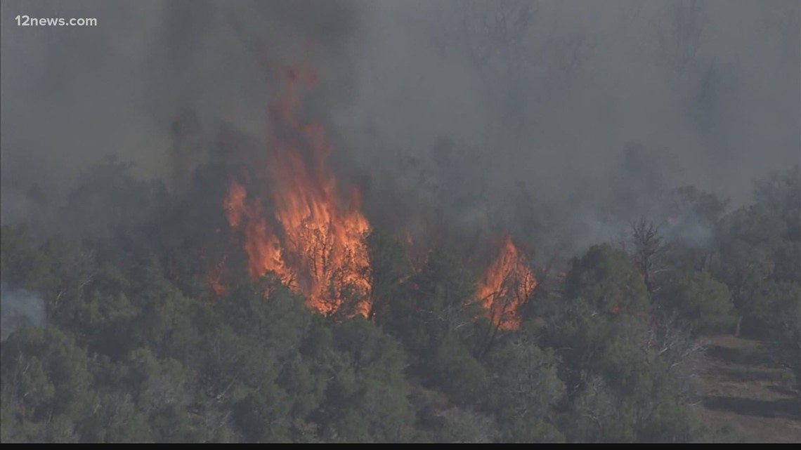Crews continue to fight Rafael Fire burning in the Prescott National Forest