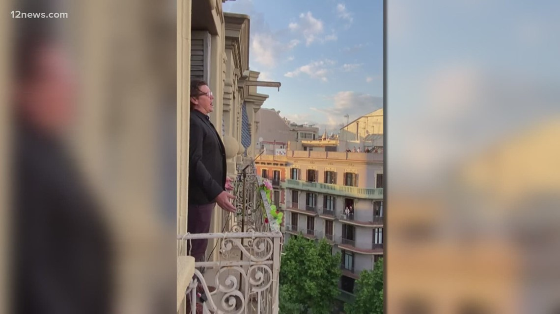 Catching up with the former ASU athlete singing opera from Barcelona patio