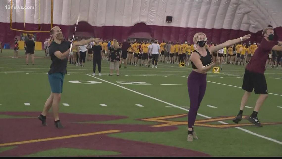 ASU's nationally ranked baton twirlers to showcase their skills for Sun Devils