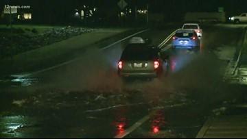 Heavy rain floods Valley streets again