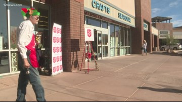 Salvation Army bell ringer back in action after spending last Christmas in the hospital