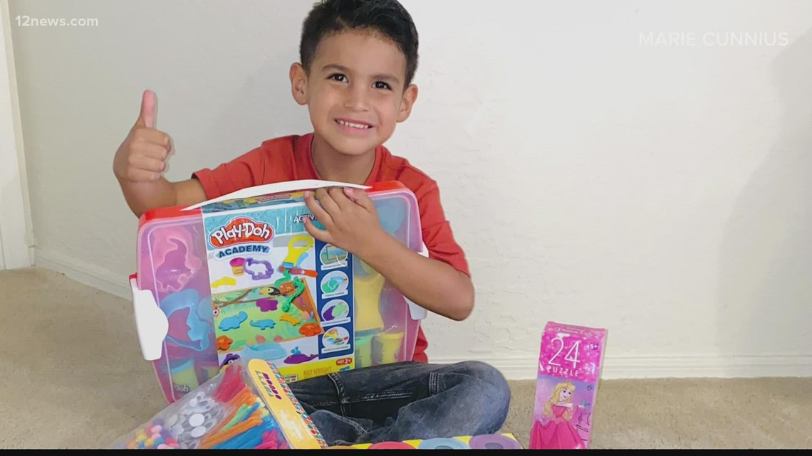 6-year-old Phoenix boy gives back to children's hospital after battling cancer