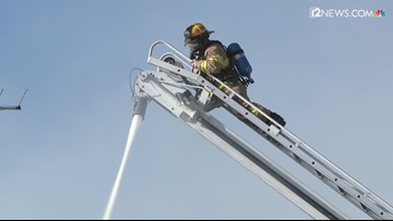 Crews battle fire in downtown Miami, Arizona