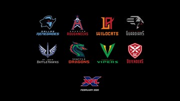 XFL releases team names and logos