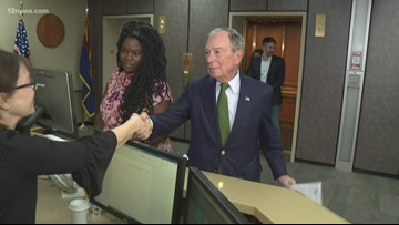Michael Bloomberg visits the Valley to get his name on the Arizona ballot