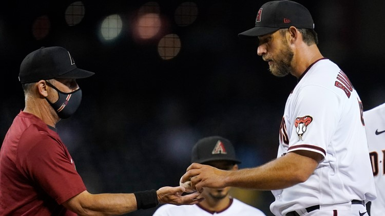 'It's not a very fun game for me right now.' Bumgarner continues to struggle, A's beat D-backs 9-5
