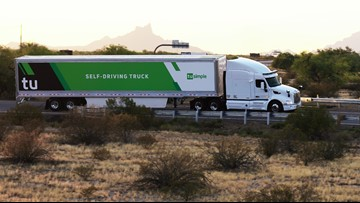 Self-driving trucks have been hauling loads for UPS between Phoenix and Tucson since May