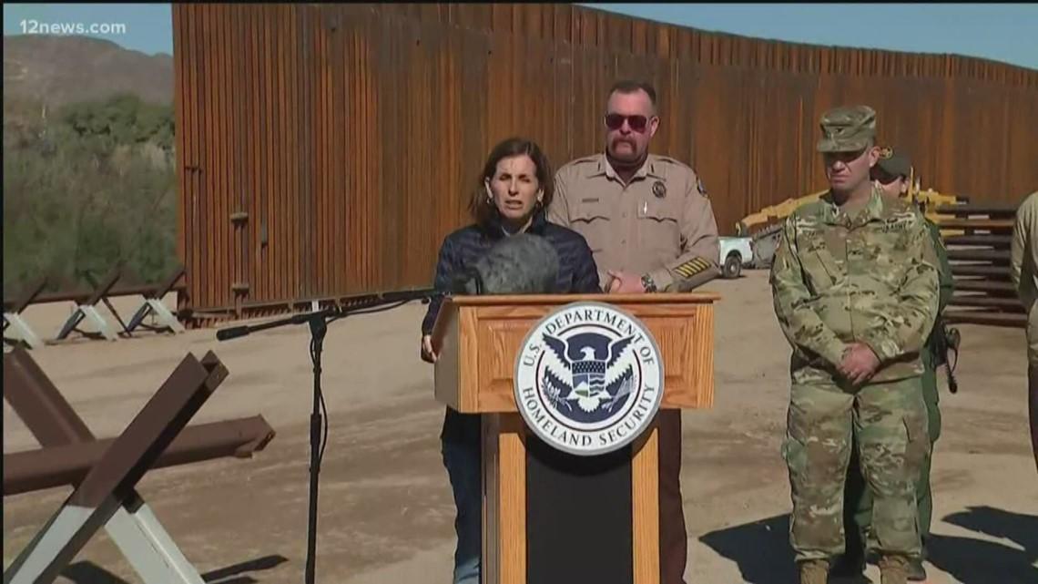 100th mile of border wall fencing built near Yuma