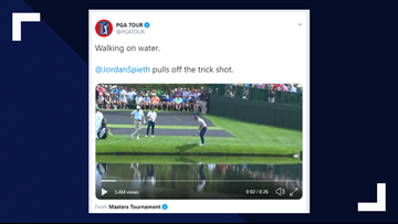 You have to see this trick shot by Jordan Spieth at the Masters