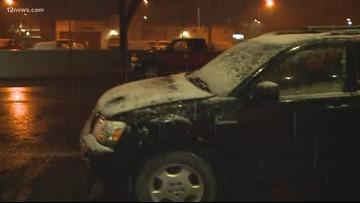 Winter storm system moving across Arizona