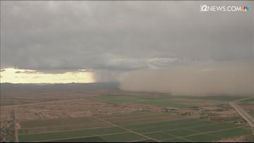 Dust wall southeast of Phoenix