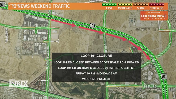 Weekend traffic report for April 9