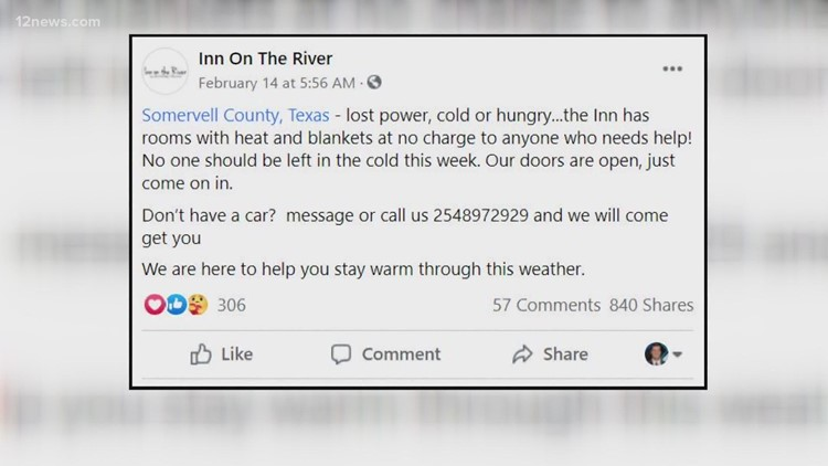 Woman who moved from Phoenix now helping out freezing Texans