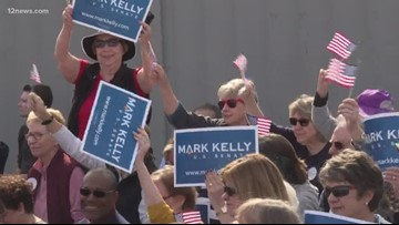 U.S. Senate candidate Mark Kelly holds campaign rally in Phoenix