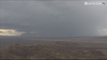 Helicopter video shows a wall of dust in the Arizona desert Sept. 16