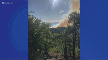 Fire crews battling wildfire south of Prescott