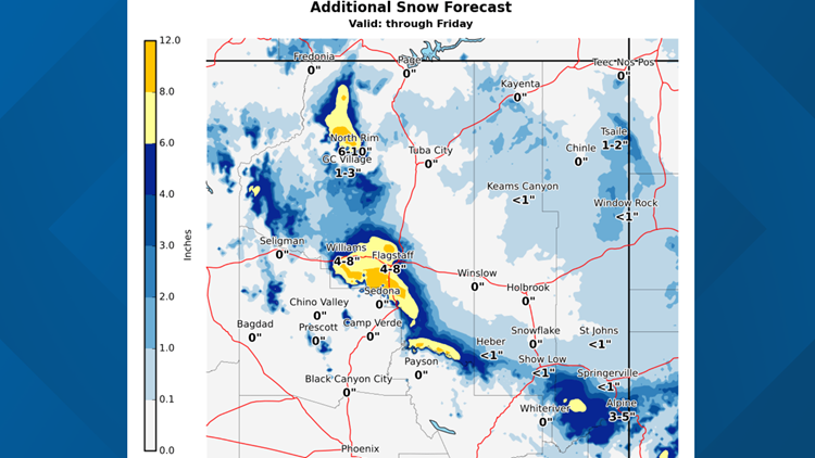 Flagstaff snow amounts
