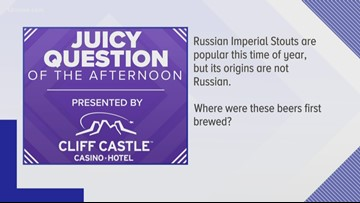 Juicy Question: Russian Imperial Stouts were originally brewed in THIS country
