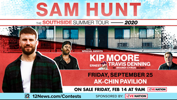 TODAY IN AZ SAM HUNT SWEEPSTAKES