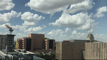 People in downtown Phoenix loving the heat relief, but others missing monsoon weather