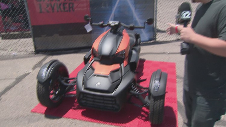 Mike Turner tries out 3-wheeled motor bikes