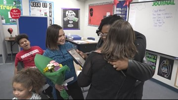 12 News A+ Teacher: Erica Burrell at Simpson School